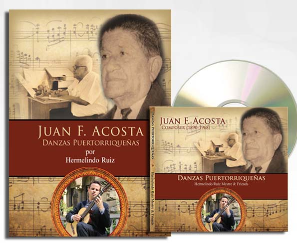 CD and book with the music of Juan F. Acosta